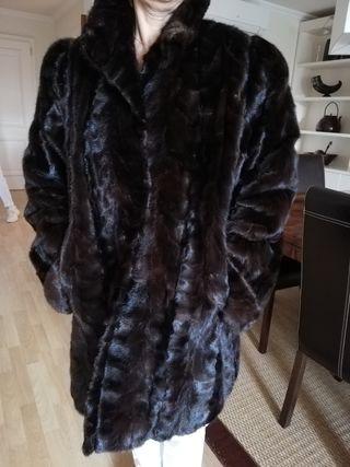 abrigo piel lomo visón