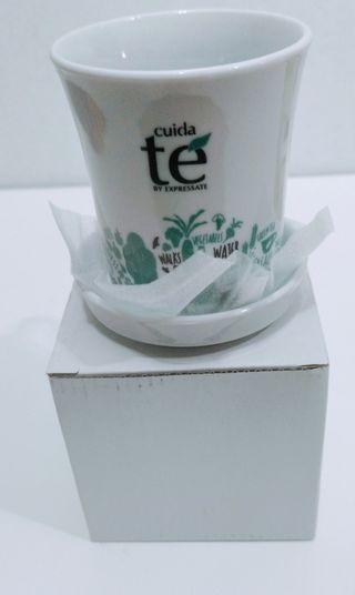 taza y plato para tes/ infusiones