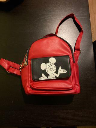 Bolso-mochila rojo Mickey