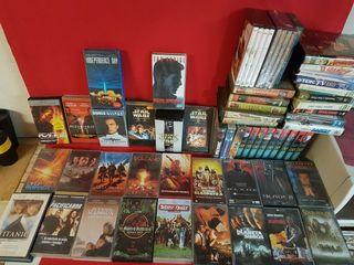 LOTE de 65 cintas VHS