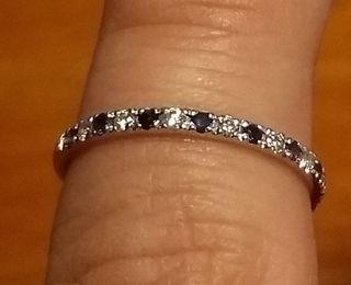 Sortija MUMIT de oro, diamantes y zafiros