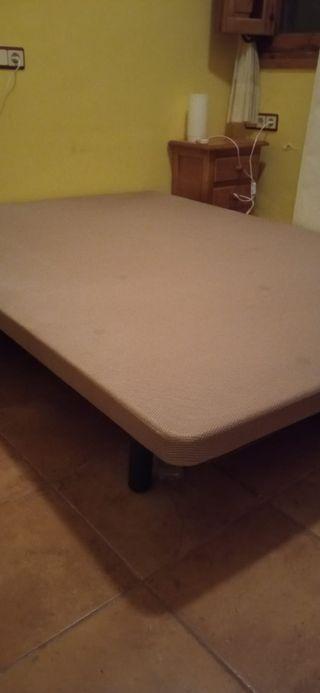 base tapizada colchón 135