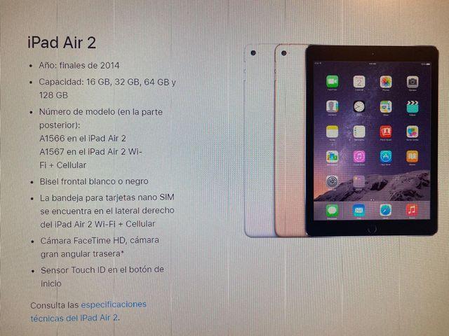 Ipad Air 2 16 GB GRIS ESPACIAL
