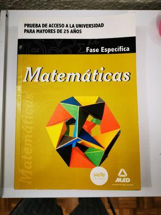 Matemáticas Acceso Universidad mayores 25