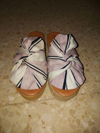 Sandalias nuevas rosa bebe y blanco