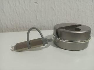 Cable cargador USB tipo C y iPhone
