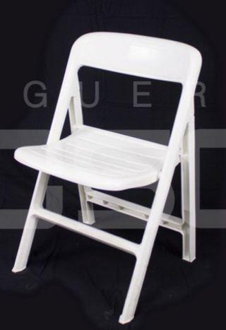 Sillas plástico plegables color blanco