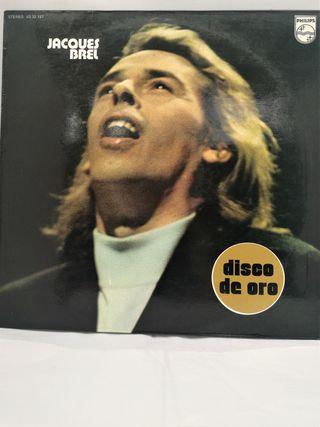 Jacques Brel, Disco de Oro. 1976. EX/EX