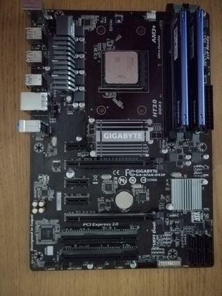 Placa base Gigabyte + AMD FX 83-50 + 8GB RAM