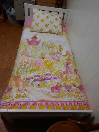Cama Ikea Kritter+colchón látex