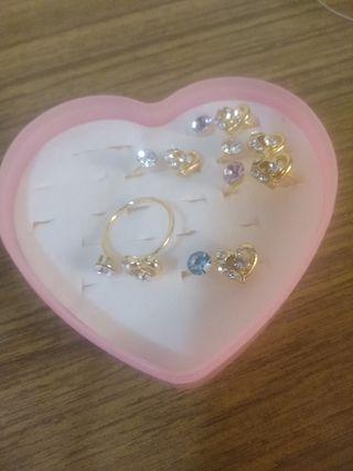 anillos para niñas 1€ cada uno