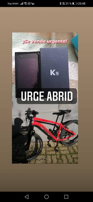 bicicleta y móvil pack