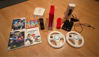 Consola Wii roja pack completo y extras