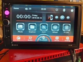 "Radio coche 2 Din 7"" LCD táctil BLUETOOTH, MP5"