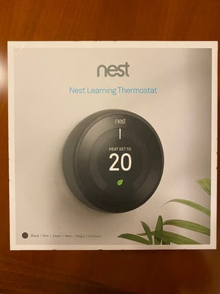 Termostato Google Nest Negro 3a generacion