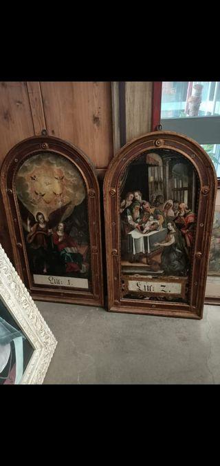 Dos cuadros religiosos
