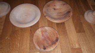 Decoración- Platos de madera artesanales