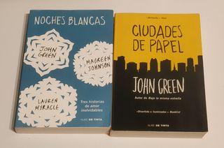 Libros Ciudades de papel y Noches blancas