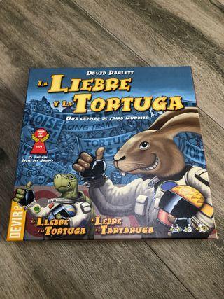 La liebre y la tortuga - Juego de mesa.
