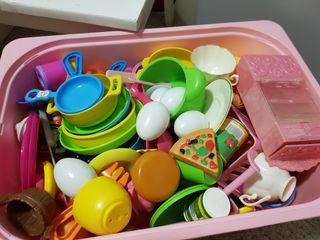 lote cocinita y accesorios juguete