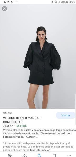 vestido blazer combinado ZARA