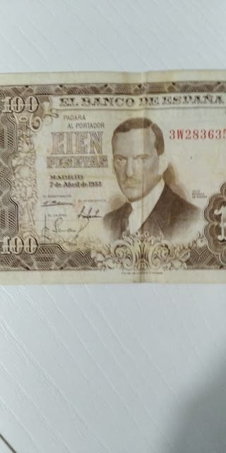 billete de 100 pesetas de 1951