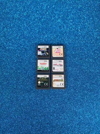 6 JUEGOS de Nintendo DS