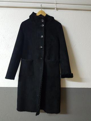 Abrigo negro mujer talla M 38-40
