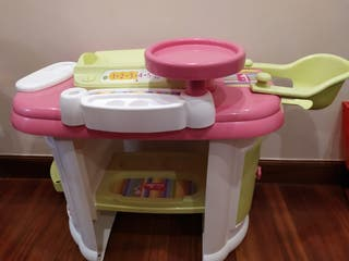 bañera/cambiador/trona juguete