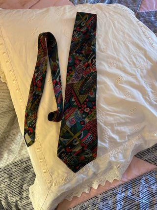 Corbata seda natural Enzo vintage