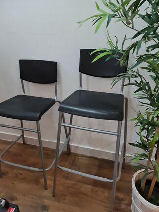 sillas altas banquetas