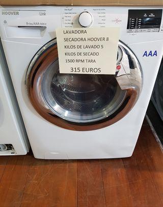 Lavadora secadora Hoover 8y5 1500 rpm