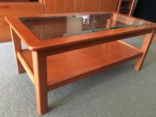 Mesa de comedor (madera + cristal)