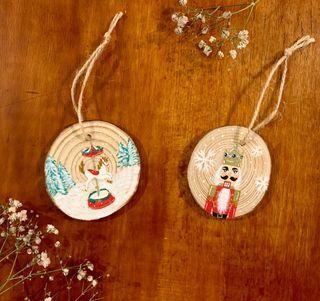 Decoraciones Navidad pintadas a mano