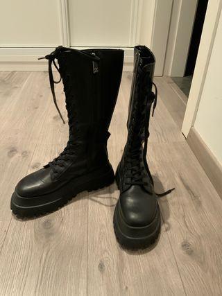 Botas militares Zara piel