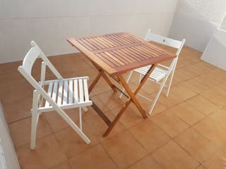 mesa y sillas para jardin o terraza