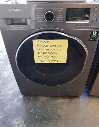 Lavadora secadora Samsung 9y6 1400 rpm