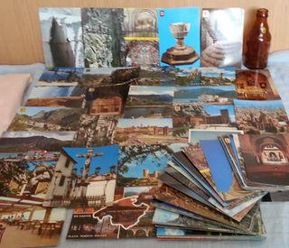 Postales vintage. Cantidad y variedad de postales.