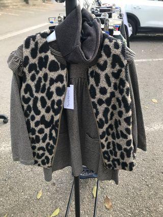 Vestido +chaleco talla 4-5 de un the familia