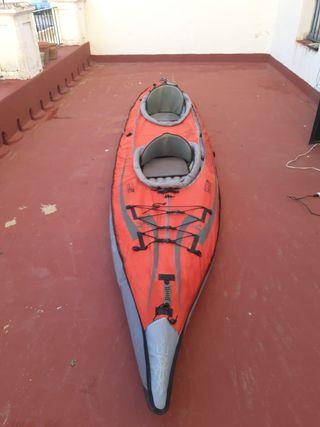 kayak con 2 remos