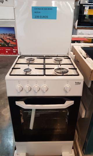 Cocina de gas beko nueva