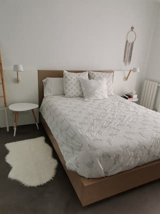 Cabezal y canapé cama 150 cm