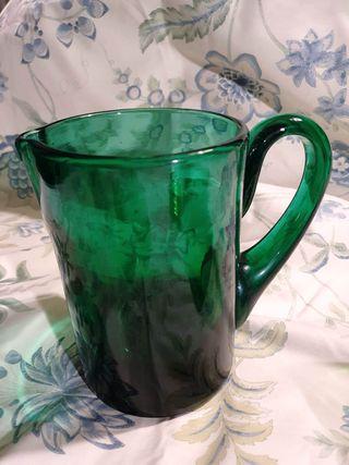 Jarra verde tipo duralex