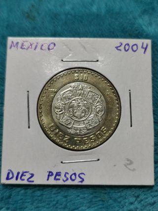 Mexico 10 pesos 2004 bimetalica