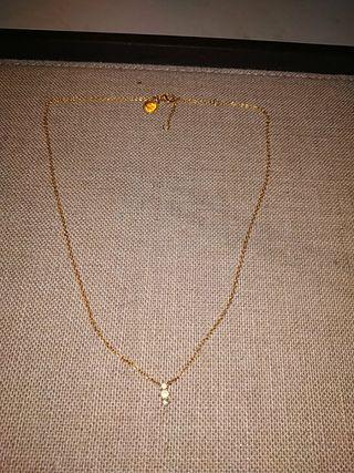 gargantilla aristocrazy plata bañada en oro