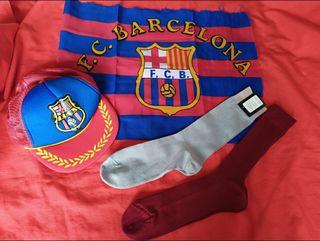 Pack 5€: Gorra y tela F.C.B. + 2pares calcetines n