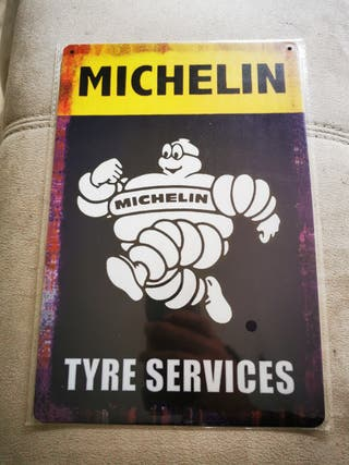 Cartel metálico decoración Michelin