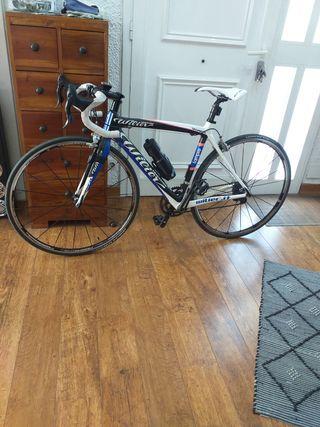 Bicicleta de carreras de carbono