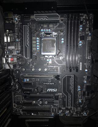 Placa base MSI H270 PC mate más caja gaming.