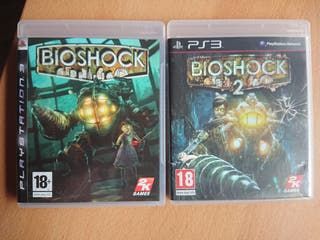 Pack BioShock 1 y 2. PS3. PAL España.